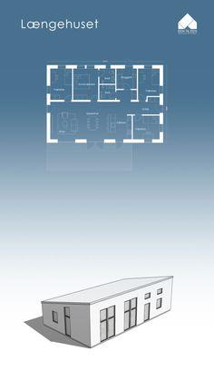 EEN TIL EEN – Arkitektur & Byggeri Sims 4 House Plans, House Floor Plans, Architecture Drawings, Architecture Plan, Low Budget House, Gable House, Duplex Plans, Small Floor Plans, Cottage Style House Plans