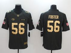 8ca089c7d Men San Francisco 49ers 56 Foster gold number Nike Salute to Service Limited  NFL Jersey