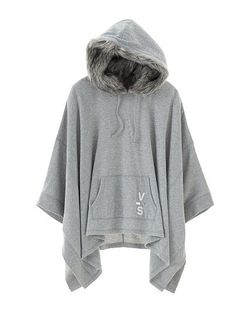 Faux-fur Hooded Poncho Fleece ($98.00 USD) | Victoria's Secret