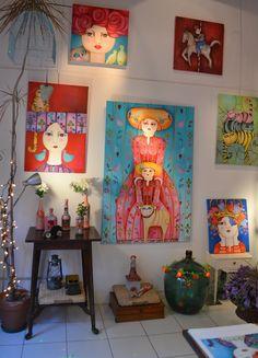 Actitud Creativa KARINA CHAVIN / Circo Golondrina Interior Design Certification, Create And Craft, Abstract Canvas, Art Activities, Face Art, Art Girl, Art Boards, Cool Art, Art Projects