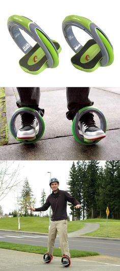 Why not turn your feet into wheels? The Orbitwheel from Inventist Inc. is a stellar concept that takes two-wheeled transportation to the next level!  Fun gift for grandchildren!
