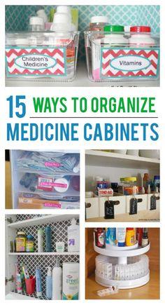 15 ways to organize medicine cabinets