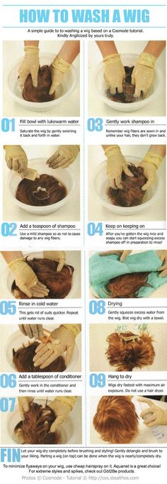 How to wash a wig....I pay good money for my cosplay wigs and hope this tutorial will help maintain them.