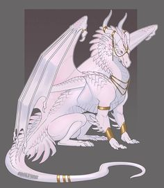 Pearl Dragon by Adalfyre on DeviantArt Cute Fantasy Creatures, Mythical Creatures Art, Mythological Creatures, Creature Concept Art, Creature Design, Dragon Poses, Manga Dragon, Mythical Dragons, Wings Of Fire Dragons