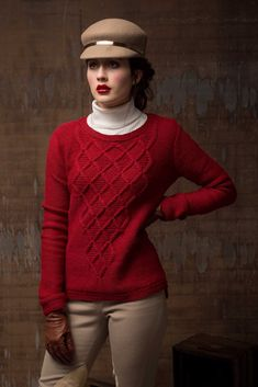 The Massachusetts Ave Pullover knitting pattern sports cascading smocked cables that form diamonds filled with garter stitch and texture. Worked from the top down, this cabled pullover features set-in sleeves and a neckline shaped with short-rows. Fall Knitting, Sock Knitting, Knitting Machine, Vintage Knitting, Celtic, What Is Fashion, Garter Stitch, Couture, Knit Cardigan