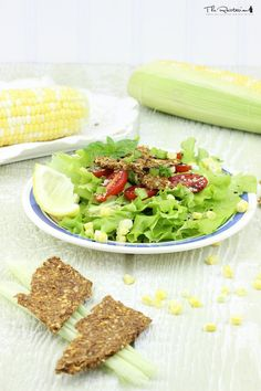 This raw corn chip recipe is simple enough to make, although you will require a food processor and a dehydrator. The main ingredients include corn, yellow bell pepper and ground flaxseeds.