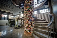 Design Detail – A Column Wrapped In Books