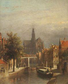 Haarlem, Holland by Petrus Gerardus Vertin City Painting, Light Painting, Carl Spitzweg, Medieval Life, Dutch Painters, Art Uk, Netherlands, Holland, Landscape
