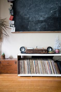 Reclaimed Wood Record Player. By Camp Design Group #campdesigngroup