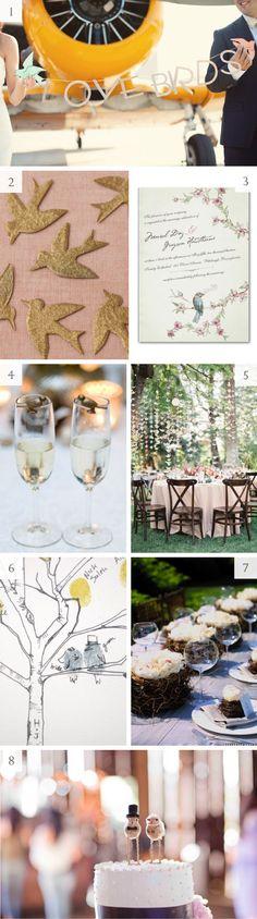 lovebird themed wedding - #birds #inspiration