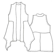 Karrin Vest. Not a pattern, but this visual can help DIY with upcycled clothes.