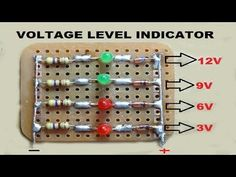 Voltage Level Indicator Using Zenor Diode - YouTube