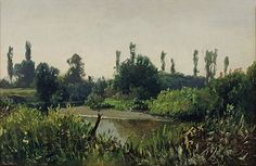Ludwig Willroider (Austrian, 1845-1910). Green Landscape, ca. 1890s. Charles and Emma Frye Collection, 1952.196