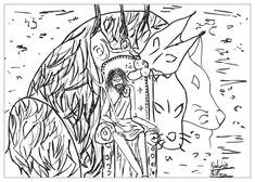 myths legends coloring pages for adults coloring page adults hades by valentin