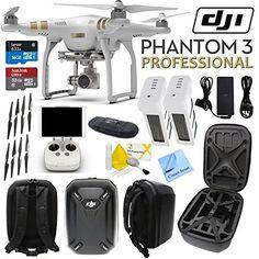 This Kit Includes:1- DJI Phantom 3 Professional Quadcopter Drone + 1 Handheld Transmitter (Radio Controller) + 1 Mobile Device Holder + 1 Smart Battery Charger + 2 Intelligent Flig