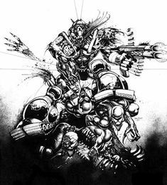 A.B.C Warriors from 2000ad. Hammerstein by Simon Bisley