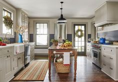 """thisoldhouse:  """" A True to Form 1929 Farmhouse A 1920s farmhouse that got a much-needed makeover without losing its evolved-over-time charm  See the full story, more photos and floor plan at the This Old House website.  Photograph by John Gruen.  """""""