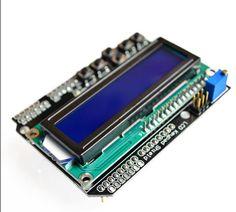 จัดส่งฟรีจอแอลซีดีปุ่มกดโล่LCD1602จอแอลซีดีแสดงผล1602โมดูลสำหรับa rduino ATMEGA328 ATMEGA2560ราสเบอร์รี่ปี่UNOหน้าจอสีฟ้า