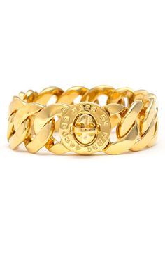#MARC by Marc Jacobs 'Turnlock - Katie' Large Bracelet Gold $128
