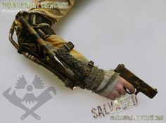 Post Apocalyptic costume - armoured arm brace for Airsoft/LARP. SALVAGED Ware enquires always welcome @ www.markcordory.com