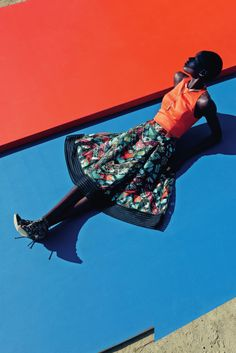 """stormtrooperfashion:Ajak Deng in """"Mixed Message"""" by Julia Noni for Neiman Marcus, March 2015 Neiman Marcus, Julia Noni, Star Fashion, Fashion Models, Women's Fashion, Travel Fashion, Editorial Photography, Fashion Photography, Colour Photography"""