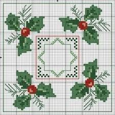 Risultati immagini per patrones de punto de cruz de navidad