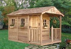 Outdoor Living Today Santa Rosa 8 x 12 ft. Garden Shed - The Outdoor Living Today Santa Rosa 8 x 12 ft. Garden Shed is definitely not your typical backyard shed. This beautiful structure offers a deck . Cedar Furniture, Cedar Garden, Garden Sheds, Cedar Deck, Pallet Shed, Wood Storage Sheds, Storage Area, Outdoor Supplies, She Sheds