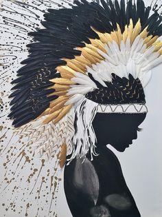 African Art Paintings, Modern Art Paintings, Modern Artwork, Contemporary Art, Oil Paintings, Landscape Paintings, Painting Edges, Oil Painting Abstract, Figure Painting
