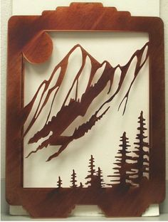 Laser Cut panel @Christi Stoltzfus Zschiesche...ahhhh...mountain art...