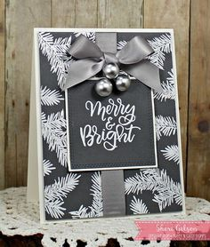 Paper Crafty's Creations : Inspired By All The Little Things #74 | Merry & Bright Christmas Card