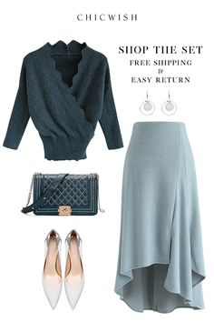Ideas For Dress Casual Petite Stylists Komplette Outfits, Classy Outfits, Stylish Outfits, Winter Outfits, Modest Fashion, Hijab Fashion, Fashion Dresses, Mode Inspiration, Look Fashion