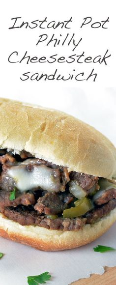 Easy Philly Cheesesteak Sandwich loaded with ribeye, cheese and flavor! Ready in just under 25 minutes using your Instant Pot. This Instant Pot recipe will be a family favorite!