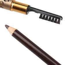 Lápis e escovinha de sobrancelhas.