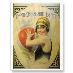 Old Pontchartrain BEACH Card