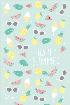 Summer Pattern ☼ Find more Summer themed wallpapers for your #iPhone + #Android @prettywallpaper