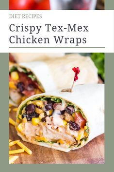 Crispy Tex-Mex Chicken Wraps Alright, ladies and gentlemen, I am about to introduce you to the new superstar of your weekly meal plan…. (drumroll please)… Fifteen Minute Crispy Tex-Mex Chicken Wraps! Crispy Chicken Wraps, Crispy Chicken Tenders, Chicken Wrap Recipes, Mexican Food Recipes, Healthy Recipes, Healthy Meals, Delicious Recipes, Tex Mex Chicken, Wrap Sandwiches