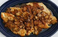 Chicken Marsala Recipe    Ingredients  2  skinless, boneless, chicken breasts  salt and freshly ground black pepper  1/2 cup all purpose flour or corn starch for gluten-free  up to 1/2 cup  olive or vegetable oil  8 ounces container of mushroom, sliced and cleaned  2 tablespoons butter  1/2 cup sweet Marsala wine  1/4 cup chicken stock  1/4 cup sherry or dry white wine  Optional: 2 tablespoons  heavy cream  Garnish with chopped parsley or oregano