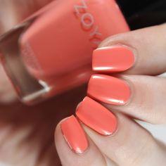 Zoya - Ella - Darling Spring 2021 Zoya Nail Polish, Nails, Swatch, Orange, Spring, Collection, Finger Nails, Ongles, Nail
