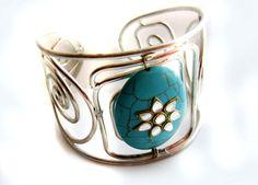 CUFF BRACELET Turquoise Cuff Kundan by taneesijewelry on Etsy, $43.99