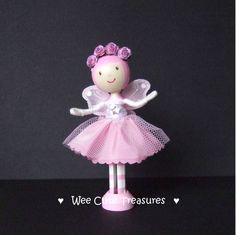 Idea for a Pink Fairy clothes peg doll :-)