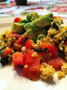 Avocado Millet Pilaf! Delicious! Gluten Free, Vegan, Body Ecology Diet