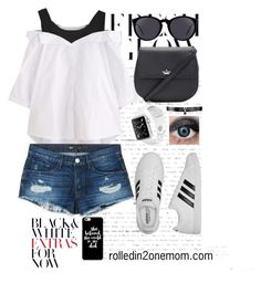 Black and White and Extra Nice by nhessie-agustin featuring fashion, style, 3x1, adidas, Kate Spade, Fallon, Yves Saint Laurent and clothing
