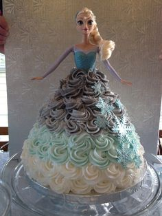 Elsa cake at a Frozen girl Birthday Party! See more party ideas at CatchMyParty.com!
