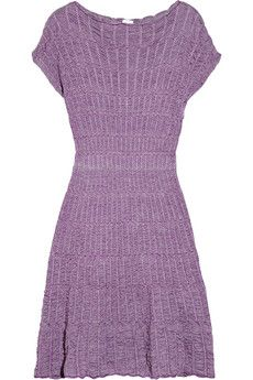 M Missoni  Crochet-knit merino wool-blend dress --- would be so cute with leather boots and tights !