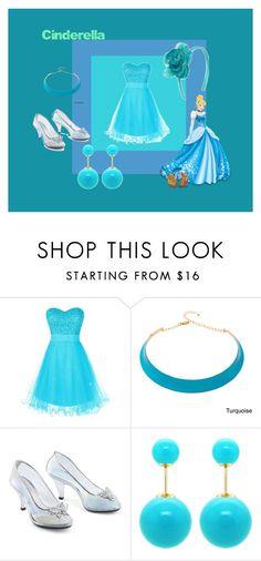 """Cinderella #3 disney princess"" by brittneycool10 on Polyvore featuring Alexa Starr, Old Navy, Disney and DaVonna"