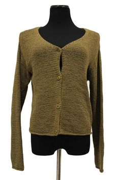 Eileen Fisher 100 Cotton Loomed Cardigan Sweater Size S