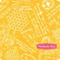 A Bee's Life Gold Words Yardage <br/>SKU