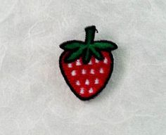 Strawberry Iron on Patch  Red Strawberry by PoohmieCollection