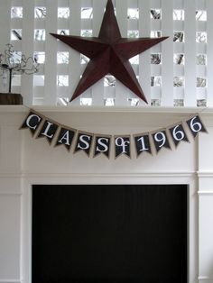 CLASS of 2016 Banner or Any Year Banner for by ShellCottageCard