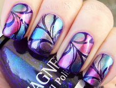 Cute metallic nail art design